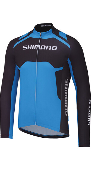 Shimano Winter Print Koszulka kolarska niebieski/czarny